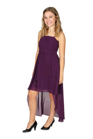 Girls-Chiffon-Kleid Farbe purple Gr. 182